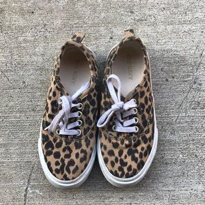 Old navy kids toddler leopard shoes size 12